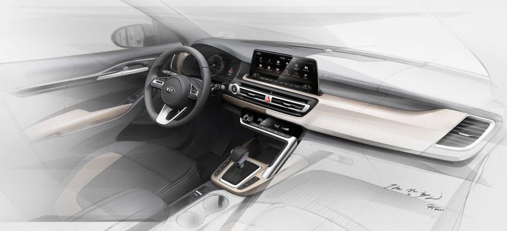 Así es el interior del nuevo SUV de KIA, del KIA Seltos, el hermano pequeño del KIA Sportage