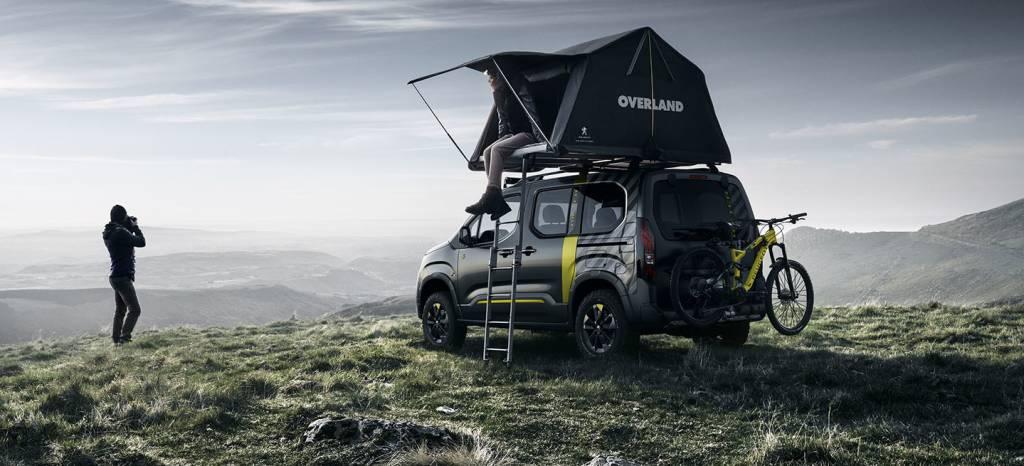 Peugeot lanzará esta tienda de campaña de techo para la nueva Rifter