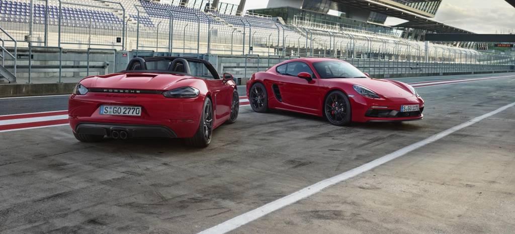 Los Porsche 718 Cayman y 718 Boxster para auténticos petrolheads se apellidan GTS y viene con un bóxer turbo de 365 CV y autoblocante mecánico