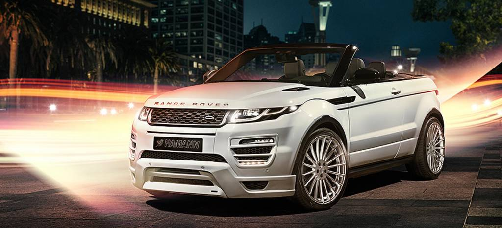 Hamann has the solution if you think your Range Rover Evoque Convertible, needs more power or be less discreet