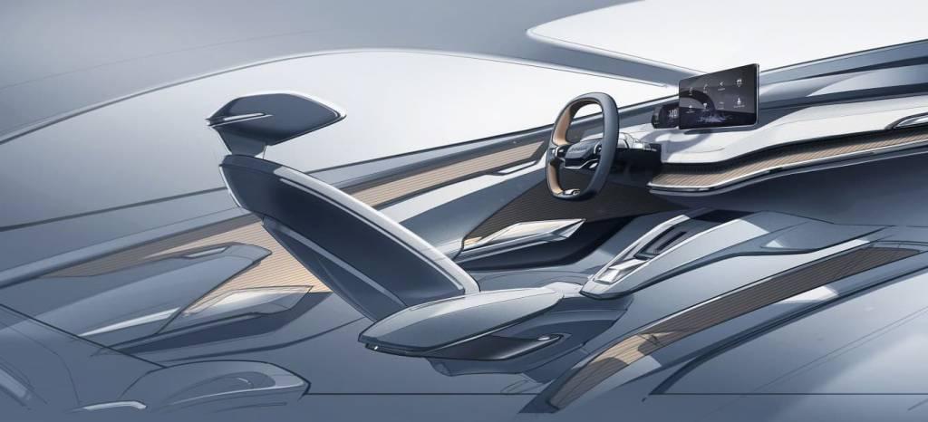 Skoda nos enseñará su coche eléctrico en el Salón de Ginebra y esta es la primera imagen de su interior