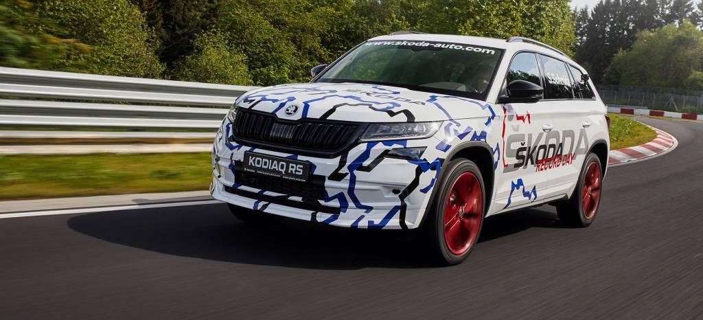 El Skoda Kodiaq RS confirma en Nürburgring que su motor es diésel, biturbo y tiene 239 CV de potencia
