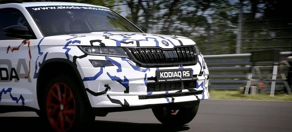 El Skoda Kodiaq RS se destapa en un vídeo oficial, que promete récord en Nürburgring