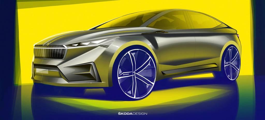 Skoda comienza a destapar su nuevo coche eléctrico que estará en el Salón de Ginebra