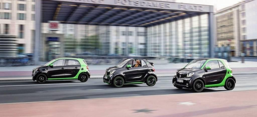 smart electric drive 2016: los nuevos fortwo, forfour y fortwo cabrio se electrifican