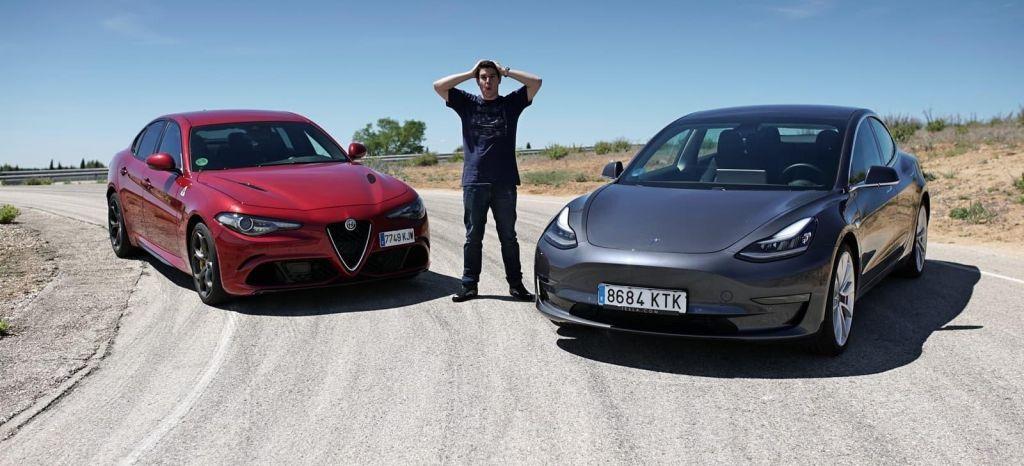 Duelo al límite en circuito: Tesla Model 3 Performance Vs Alfa Romeo Giulia Quadrifoglio (+Vídeo)