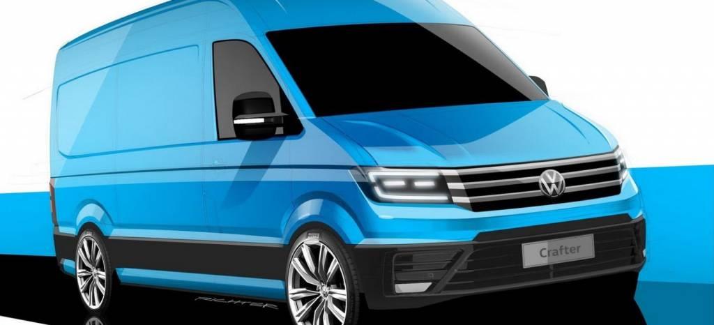 Volkswagen Crafter 2017, primeros bocetos de su próxima generación
