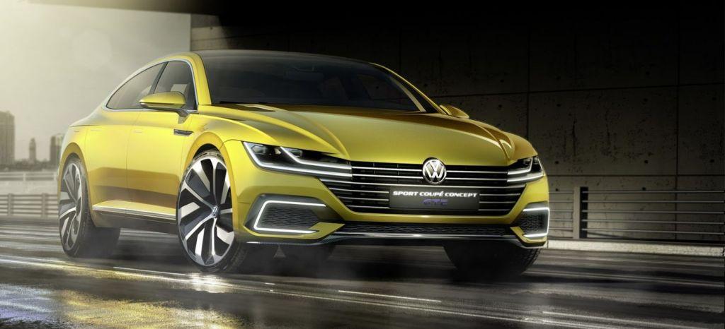 El Volkswagen Sport Coupé Concept GTE es un agresivo coupé de cuatro puertas que anticipa una nueva era de diseño en Volkswagen