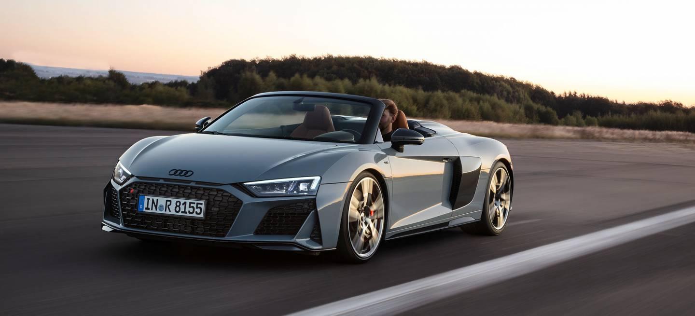 Audi R8 Spyder Gris Limites Velocidad Autobahn