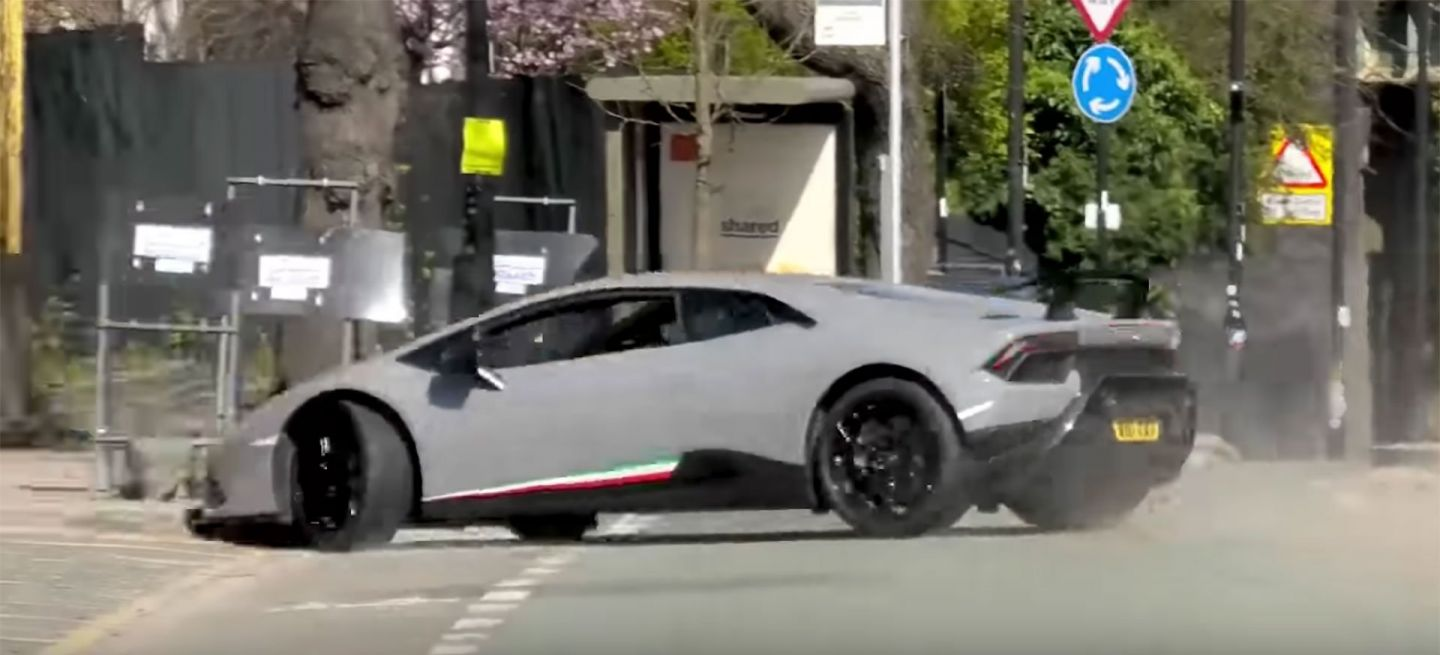 Lamborghini Huracan Performante Video Accidente Londres