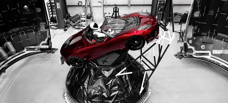 Resultado de imagen para TESLA roadster EN EL ESPACIO