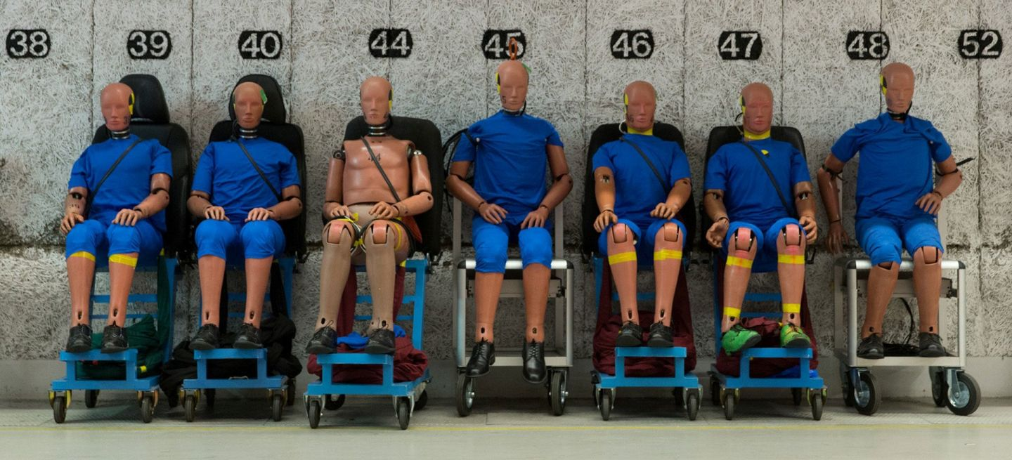 Maniqui Volvo Crash Test Dummies 06