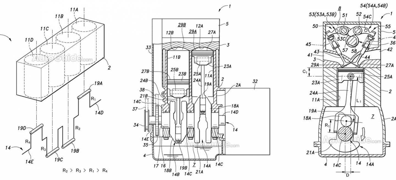 15 motores en 1  honda patenta un interesante motor de