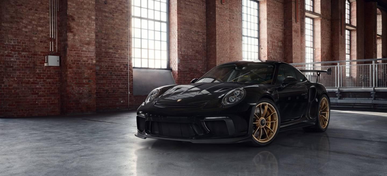 Porsche 911 Gt3 Rs Negro Llantas Doradas 4