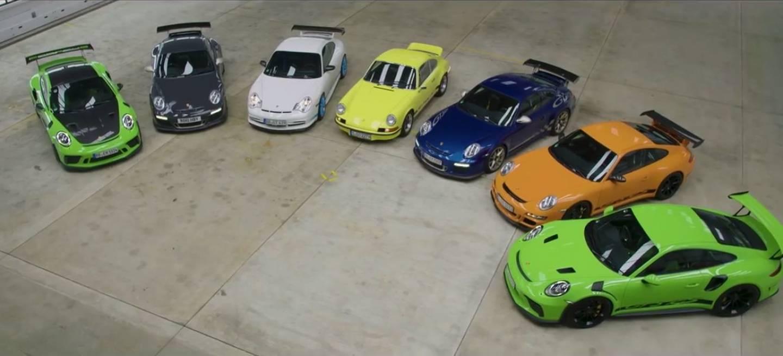545c1023e1 Placer adulto: todos los Porsche 911 GT3 RS, corriendo libres en las ...
