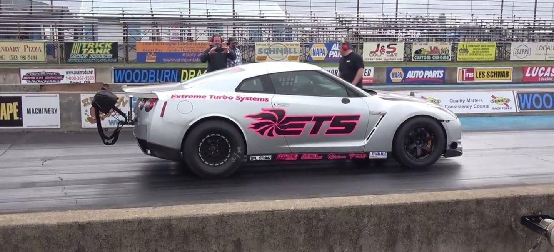 3.300 CV desbocados! El récord de cuarto de milla de este Nissan GT ...
