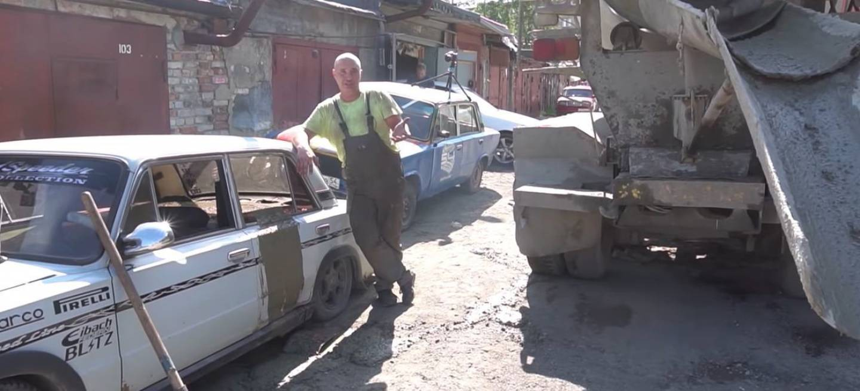 Ruso Coche Cemento