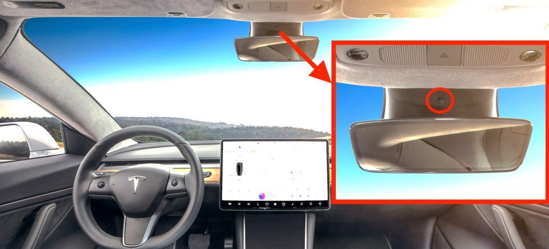 Tesla Model 3 Camara Interior