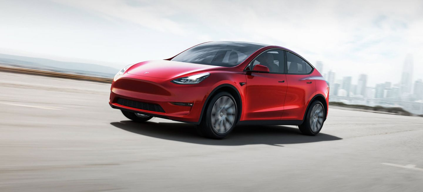 Tesla Model Y 2019 Rojo Frontal Exterior