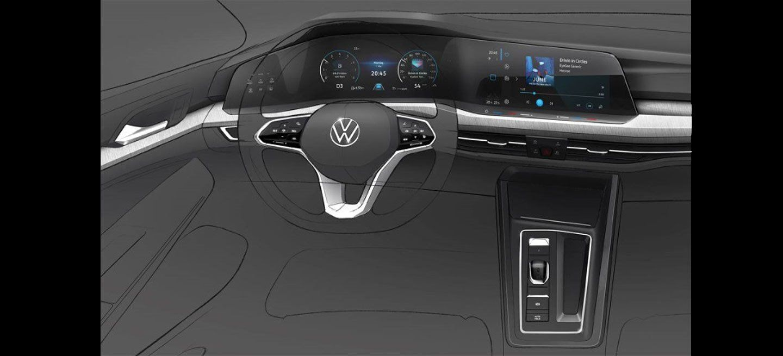Volkswagen Golf 2020 Boceto Interior 00