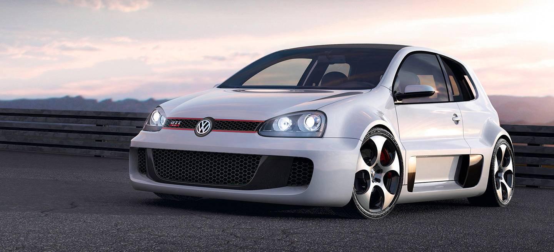 hace diez a os volkswagen present un golf gti w12 con 650. Black Bedroom Furniture Sets. Home Design Ideas