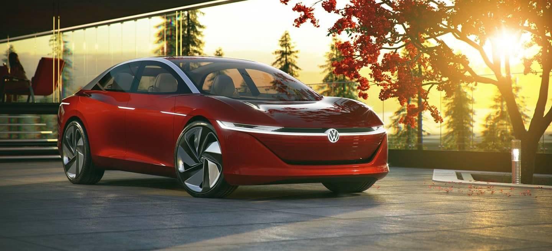 Volkswagen Id Vizzion Coche Electrico Rojo