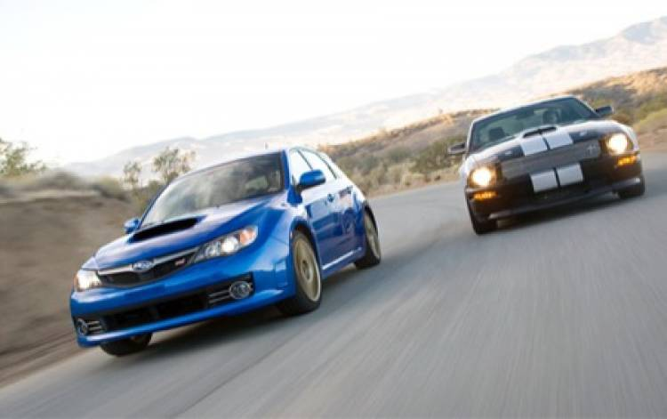 Ford Mustang Shelby GT vs Subaru Impreza WRX STI