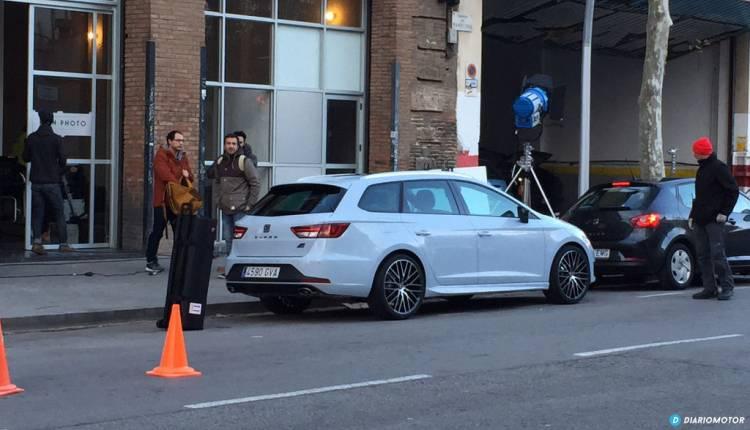 ¡Cazado! Sorprendido el SEAT León Cupra ST en Barcelona