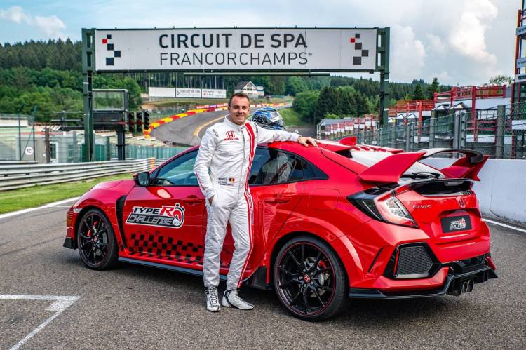 132831 Type R Challenge 2018 Hits Eau Rouge Japanese Super Gt Star Bertrand