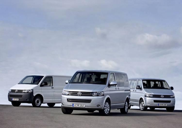 Volkswagen Transporter, Caravelle, Multivan y California, lavado de cara