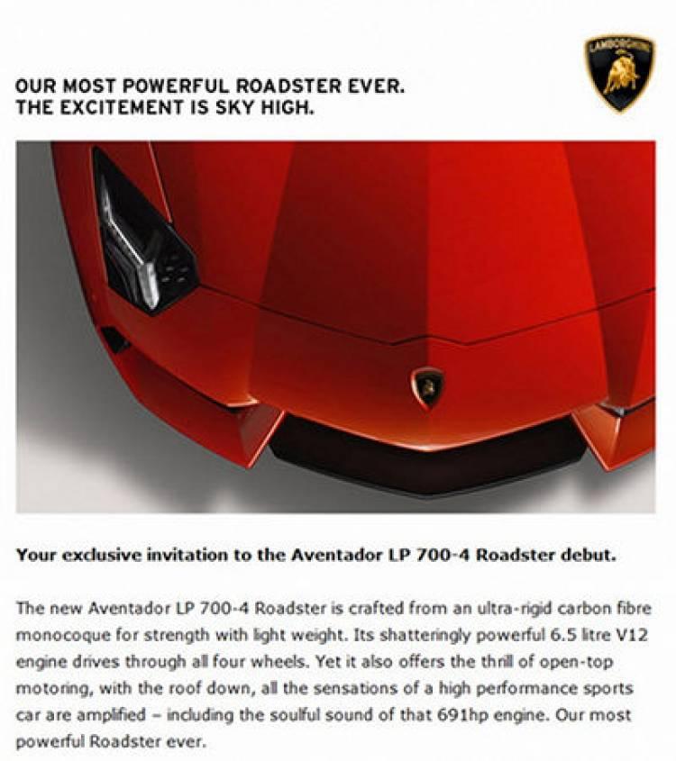 El Lamborghini Aventador LP 700-4 Roadster podría aparecer durante las próximas semanas