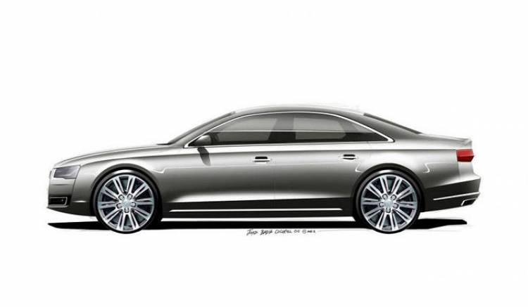 Audi A8: un nuevo anticipo de la berlina de lujo en forma de bocetos