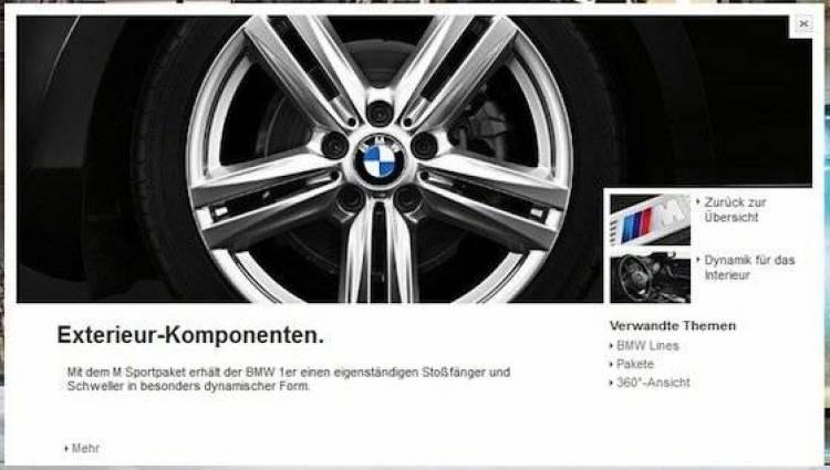 Pack M para el BMW Serie 1 2012