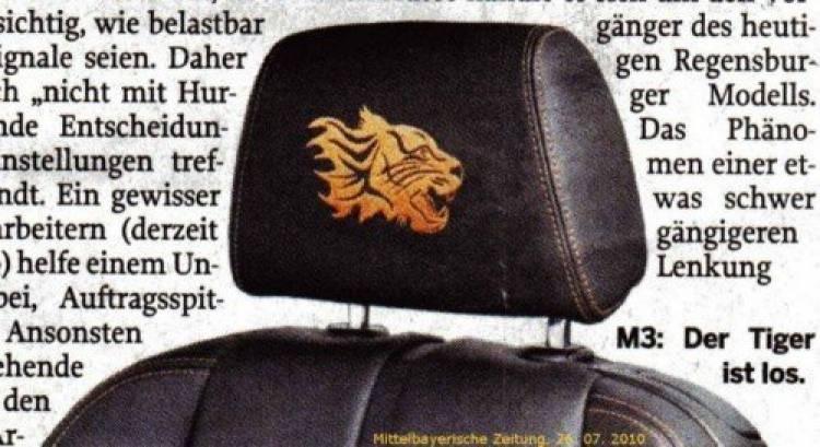 BMW M3 Tiger Edition, sólo para China