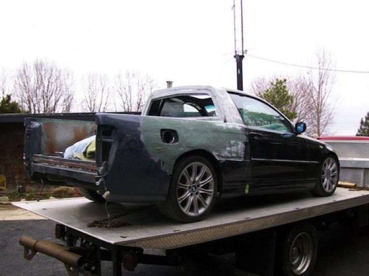 Un BMW 330ci transformado artesanalmente en pick-up