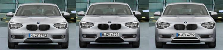BMW Serie 1 normal, Urban y Sport, diferencias
