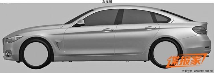 BMW Serie 4 Gran Coupé: revelado su aspecto en la oficina de patentes
