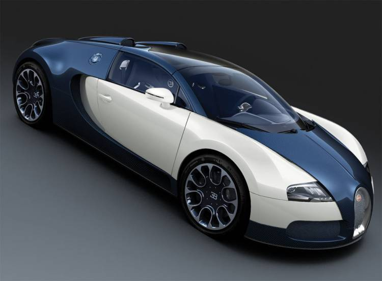 Bugatti Veyron Grand Sport Blue Carbon