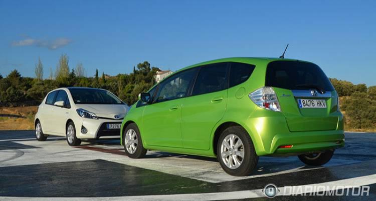 Honda Jazz Hybrid y Toyota Yaris HSD