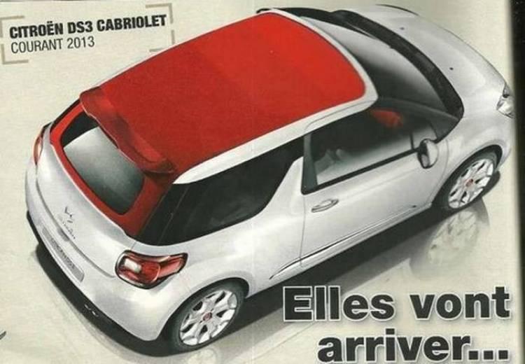 Render del Citroën DS3 cabrio