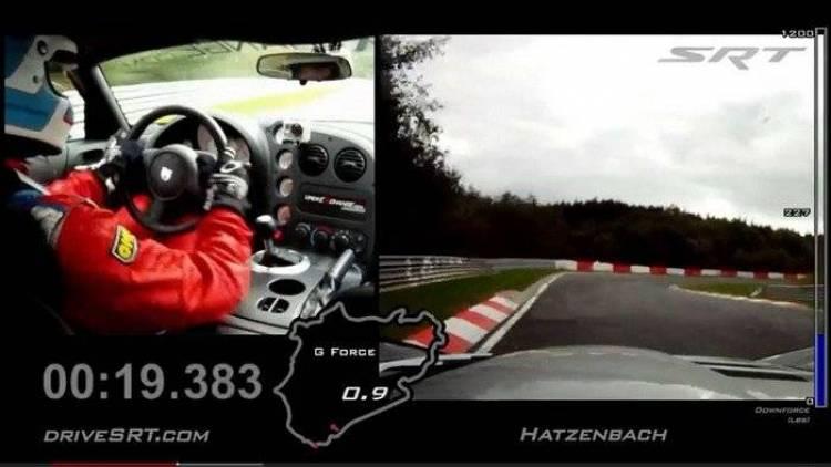 El Dodge Viper SRT10 ACR marca un tiempo récord en el Nordschleife