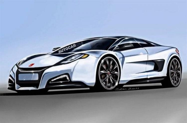 Boceto de diseño no oficial del futuro Honda NSX, realizado por Autocar
