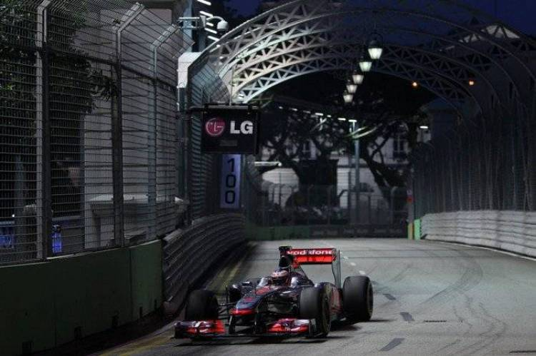 Jenson Button (McLaren) - GP Singapur 2011