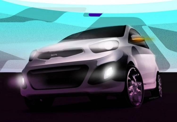 Kia Picanto 2012, anticipo en forma de bocetos
