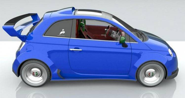 Lazzarini Design 550 Italia, un proyecto de Fiat 500 con motor V8 de Ferrari