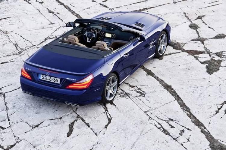 SL 65 AMG, Designo mystikblau, Interieuer Designo sand (R 231) 2012
