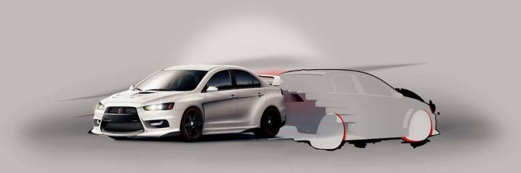 Mitsubishi Lancer Evolution X Streamside