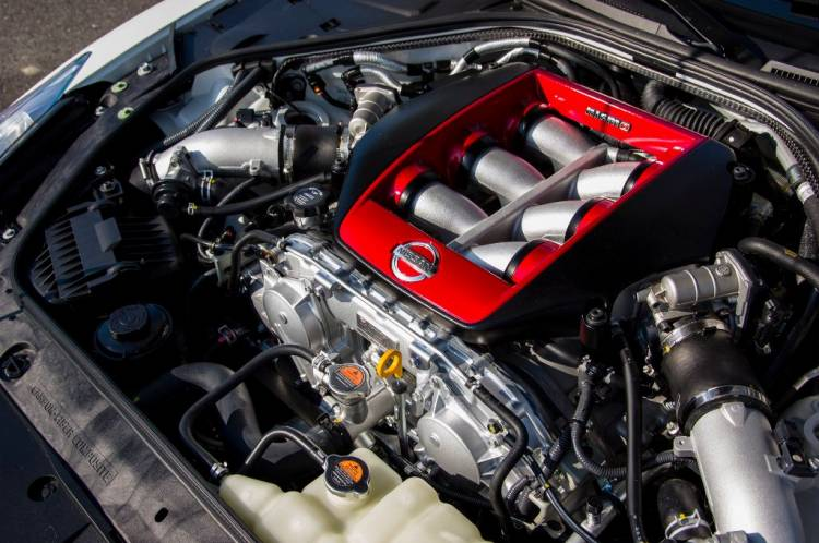Imagen del motor del Nissan GT-R Nismo