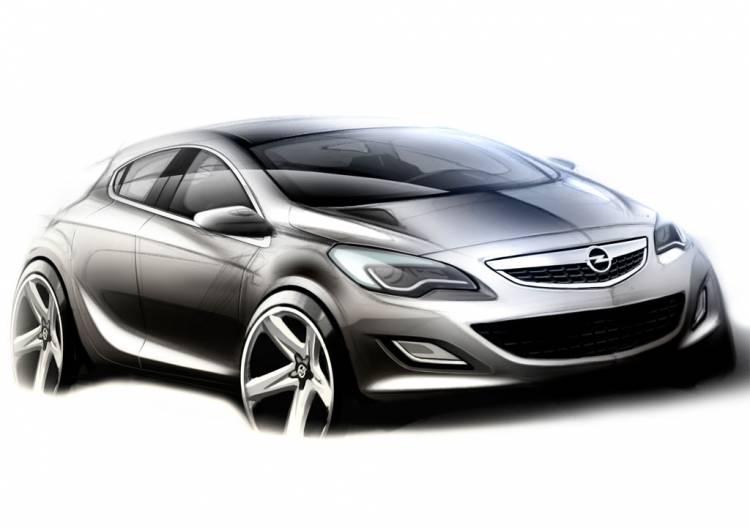 Boceto del Opel Astra OPC 2010