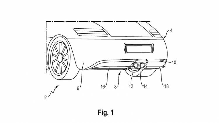 Patente difusor trasero activo Porsche